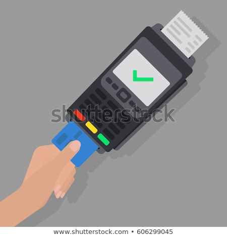 Payment machine and credit card icon in flat style. Stock photo © MarySan