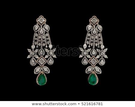Diamond background. Jewels over black Stock photo © Arsgera
