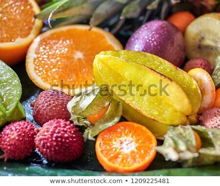 クローズアップ 熱帯 新鮮な 果物 情熱 フルーツ ストックフォト © artjazz