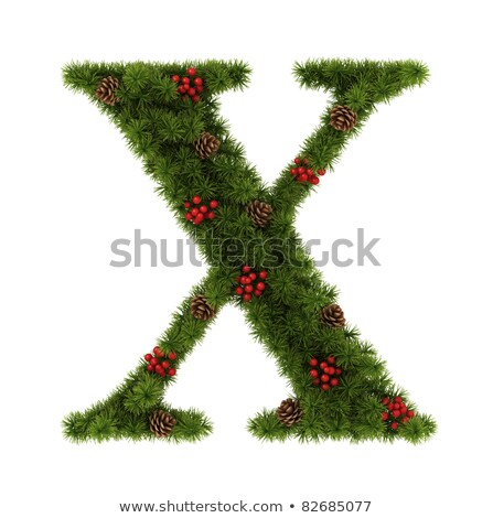 Christmas alphabet letter X Stock photo © grafvision