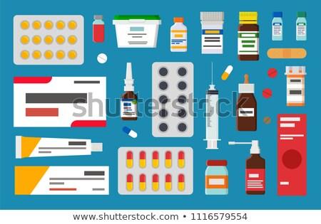űrlap tabletták kenőcs steril injekciós tű bézs Stock fotó © robuart