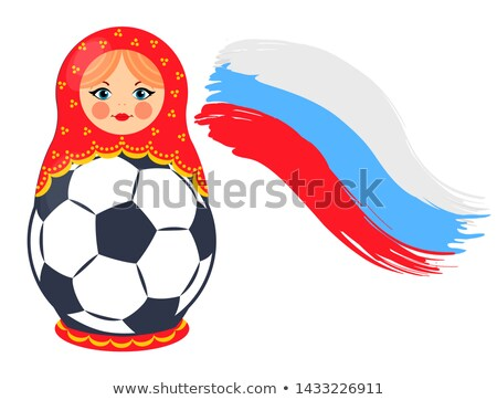 nesting doll with football ball colorful poster stock photo © robuart