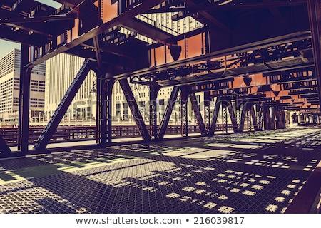 Chicago híd belváros város utca utazás Stock fotó © vwalakte