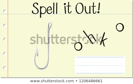 Spell english word hook Stock photo © bluering