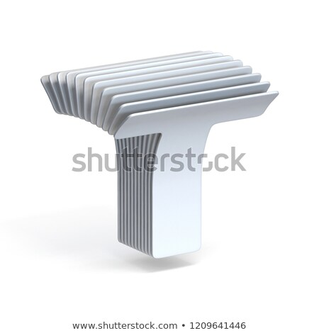 Curved paper sheets Letter T 3D Stock photo © djmilic