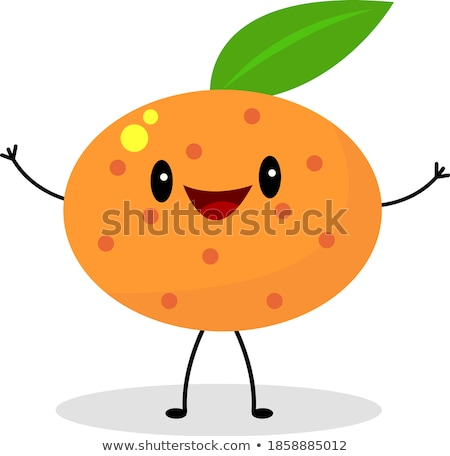 Cartoon peeled mandarin isolated on a white background. A traditional fruit symbol of the New Year a Stock photo © Lady-Luck