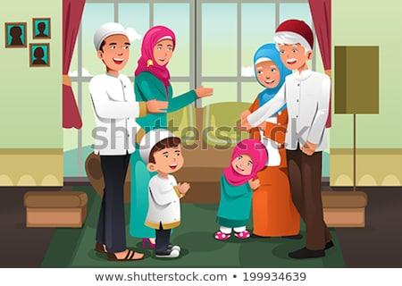 Muçulmano avó criança adormecido Foto stock © robuart
