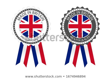 modern vector made in britain label isolated on white background simple sticker with british colors stock photo © kurkalukas