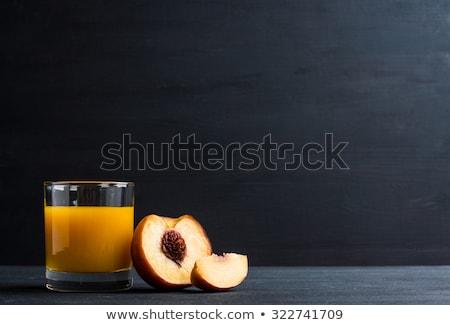 Perzik sap nectar bril vers rijp Stockfoto © ildi