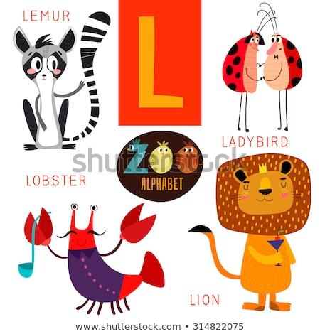 Lion for L Letter in English Alphabet for Children Stock photo © robuart