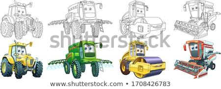Traktör tarım makinalar renk örnek sarı Stok fotoğraf © robuart