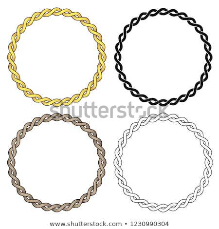 twisted braided wire rope chain vector illustration stock photo © jeff_hobrath