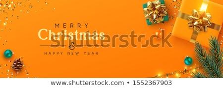 Natal venda bandeira decoração árvore de natal Foto stock © ikopylov