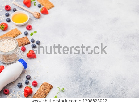 orgânico · cereal · granola · bar · mel - foto stock © denismart