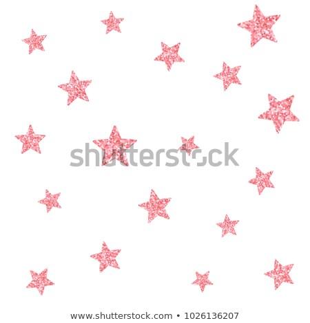 Seamless design with pink stars Stock photo © colematt