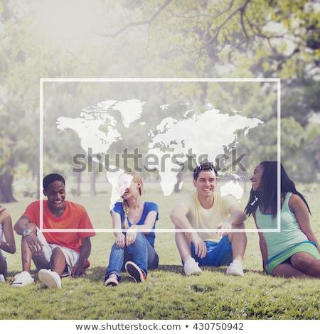 Business internazionale squadra giornali esterna business istruzione Foto d'archivio © dolgachov