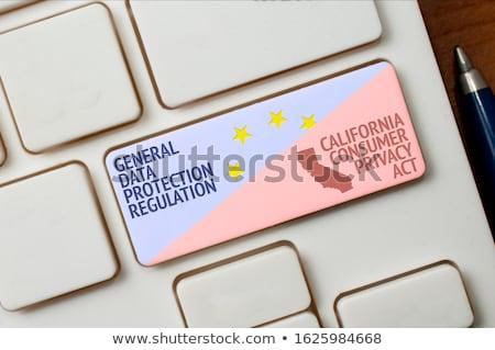 információ · porta · kék · mutat · internet · absztrakt - stock fotó © vinnstock