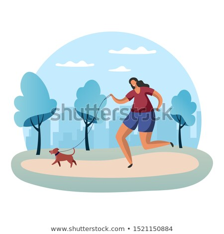 Lopen meisje vector badge opleiding sport Stockfoto © robuart