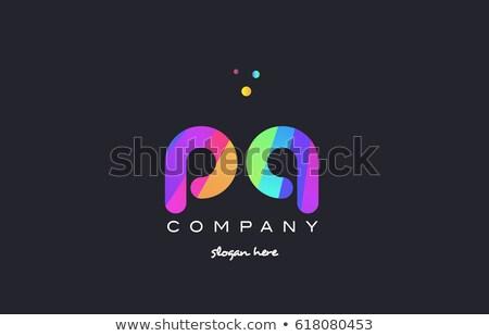 letter q green magenta logo vector design logotype Stock photo © blaskorizov