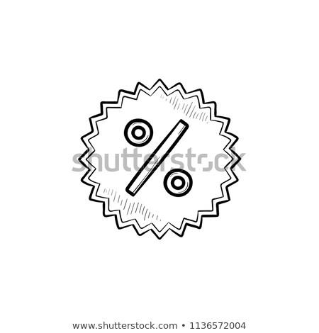 Price tag with star hand drawn outline doodle icon. stock photo © RAStudio