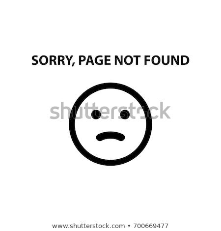 404 fout pagina niet emoticon papier Stockfoto © Natali_Brill