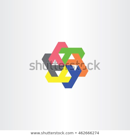 Carta círculo rotação geometria tecnologia logotipo Foto stock © blaskorizov