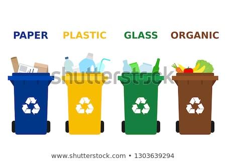 Conjunto diferente cesto de lixo ilustração papel fundo Foto stock © bluering