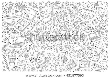 мобильных · вектора · икона · пиктограммы · иллюстрация · стиль - Сток-фото © rastudio