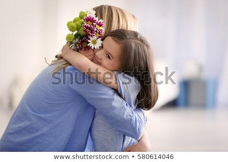 young mother and cute little girl stock photo © dashapetrenko