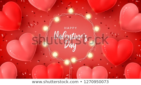 valentines day 3d red love heart shape web banner stock photo © cienpies