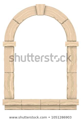 каменные окна старые замок текстуры здании Сток-фото © guillermo