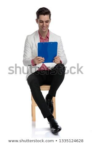 zakenman · lezing · kantoor · man · onderwijs - stockfoto © feedough