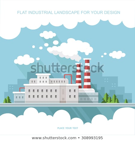Industrial smoke clouds on city landscape Stock photo © jossdiim