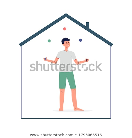 Person juggle with hobbies concept Stock photo © ra2studio