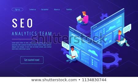 Seo analytics team optimalisatie internet promotie Stockfoto © RAStudio