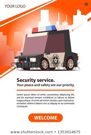 гвардии автомобилей плакат безопасности службе красный Сток-фото © tashatuvango