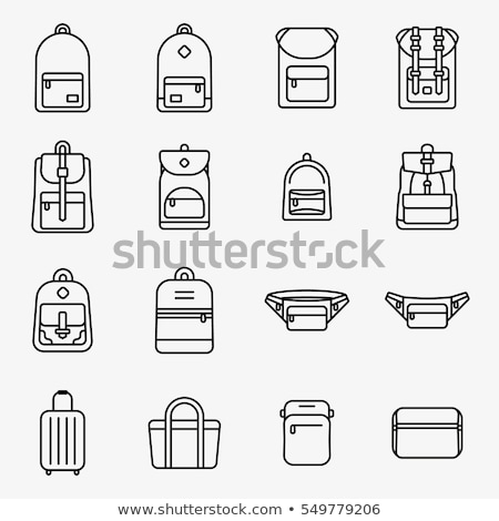 Camping rugzak icon stencil ontwerp mode Stockfoto © angelp