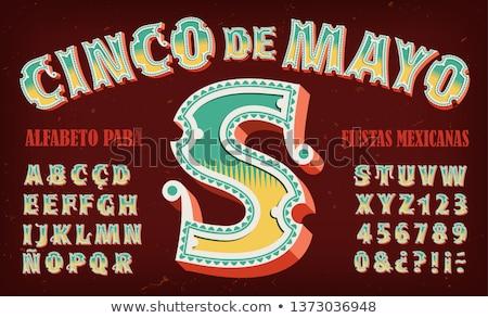 майонез мексиканских праздник вечеринка соломы Сток-фото © Krisdog