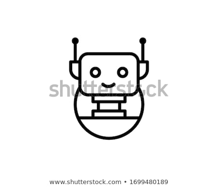 Photo stock: Icon Of Cute Robot Which Symbolizes Artificial Intelligence