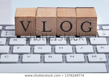 Wooden Block With Vlog Text On Keyboard Stock photo © AndreyPopov