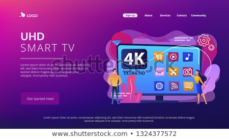 UHD smart TV concept landing page. Stock photo © RAStudio