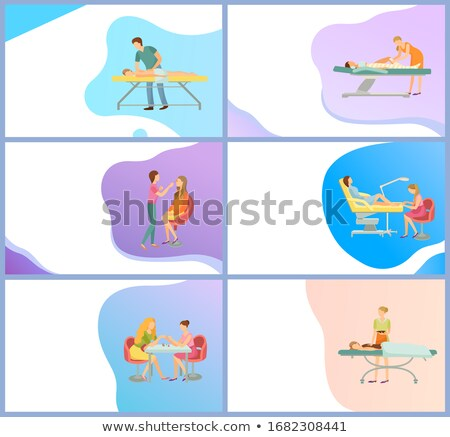 Massage Service Online Page, Masseur and Client Stock photo © robuart