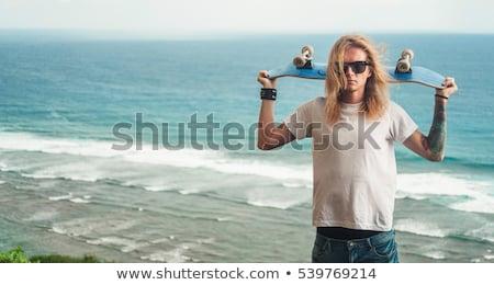 ファー 男 ビッグ 海の波 実例 男 ストックフォト © jossdiim
