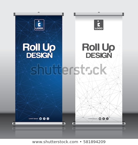 roll up design template with abstract line stock photo © designleo