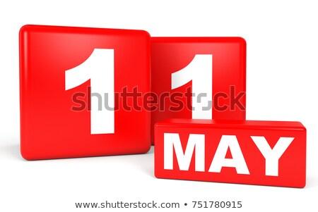 календаря красный белый икона таблице Сток-фото © Oakozhan