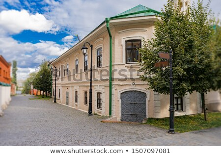 Oude dorp decoratief houten huizen gebouw Stockfoto © borisb17