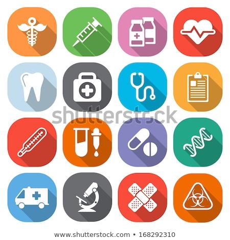 medical flat icon syringe stock photo © netkov1