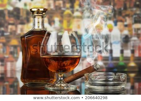 Cor elegância vidro brandy projeto Foto stock © pikepicture