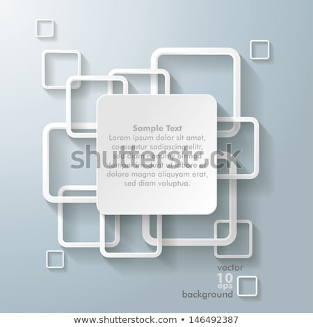 stylish rounded square abstract background Stock photo © SArts