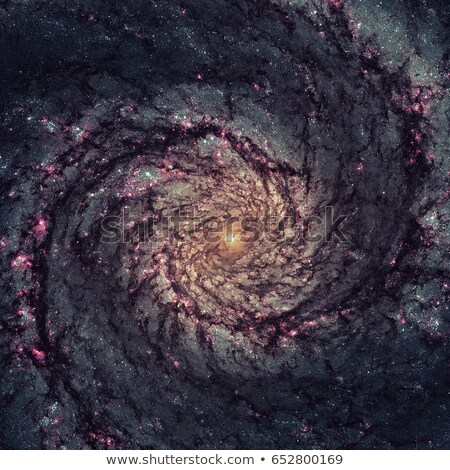 Whirlpool galaxy. Light from the emission of glowing hydrogen. Stock photo © NASA_images